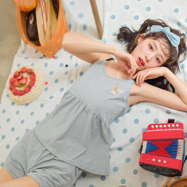 芬腾 QianXianYi 千线艺 QXY6875 女士全棉家居套装